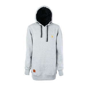 Yuki Threads Old Mate Slim Fit Hoodie - Heather Grey